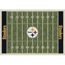 NFL Team Home Field Pittsburgh Steelers Novelty Rug