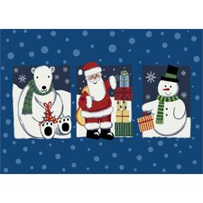 Winter 'Tis The Season' Christmas Mat