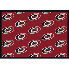 NHL Team Repeat Carolina Hurricanes Novelty Rug