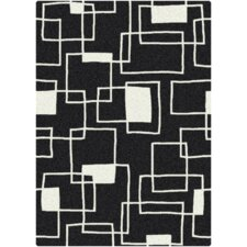 Offbeat  Box Black/White Area Rug
