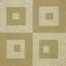 "Legato Fuse Block 19.7"" x 19.7"" Carpet Tile in Casual Crème"