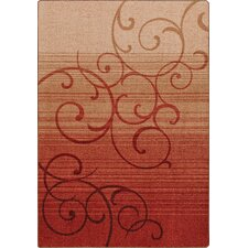 Mix and Mingle Festival Red Whispering Wind Rug