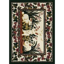 Spring Seasonal Cotton Tales Rabbit Novelty Rug