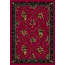 Signature Ruby Palm and Pineapple Area Rug