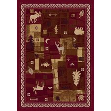 Signature Deer Trail Brick Novelty Rug