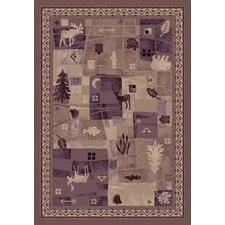 Signature Deer Trail Light Amethyst Novelty Rug