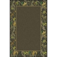 Mossy Oak Breakup Solid Center Novelty Rug