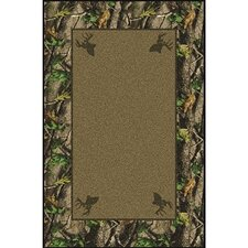 Realtree Hardwoods Solid Center Nylon Pile Area Rug