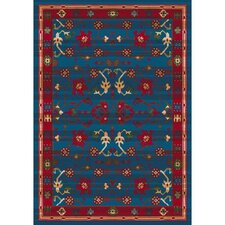 Pastiche Kashmiran Sharak Summer Night Blue Area Rug (Set of 5)