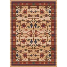 Pastiche Kashmiran Sharak Ecru Brown Area Rug