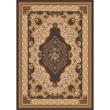 Pastiche Kashmiran Valette Brown Leather Rug