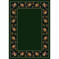 Design Center Emerald Floral Lace Area Rug