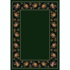 Design Center Floral Lace Emerald Rug