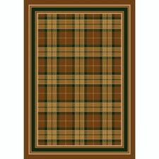 Design Center Magee Plaid Golden Amber Rug