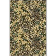 Mossy Oak Shadow Grass Solid Camo Area Rug