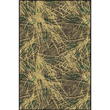 Mossy Oak Shadow Grass Solid Camo Novelty Rug