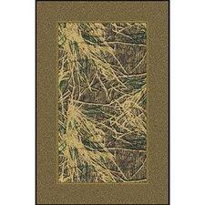 Mossy Oak Shadow Grass Solid Border Novelty Rug