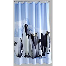 Polyester Penguins Shower Curtain