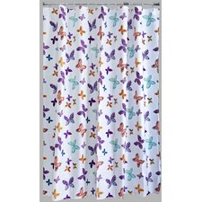 Peva Butterfly Blossom Shower Curtain