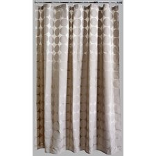 Peva Satin Circles Mocha Shower Curtain