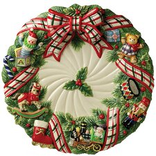 """Christmas Gifts 16.5"""" Round Platter"""
