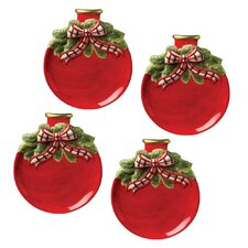 Christmas Gifts Ornament Plate (Set of 4)