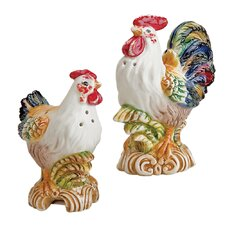Tuscan Rooster Salt and Pepper Set