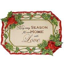 """Cardinal Santa 13"""" Rectangular Platter"""