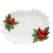 "Snowy Garden 16.25"" Oval Platter"