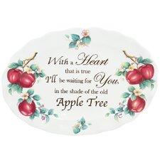 "Apple Sentiments 18.5"" Oval Platter"