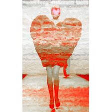 Heart Walk Painting Print on Canvas