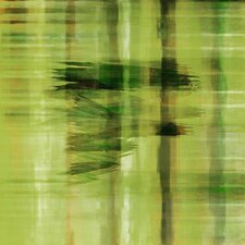 Abstract Painting Print on Canvas in Green