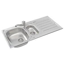 Vera 100 x 50cm Rectangular Kitchen Sink in Chrome