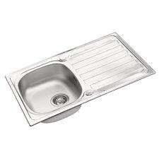 Derby 79 x 50cm Rectangular Kitchen Sink in Chrome