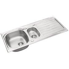 Derby 100 x 50cm Rectangular Kitchen Sink in Chrome