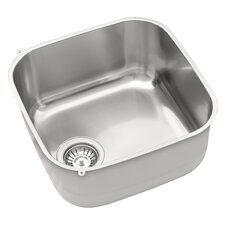 40 x 40cm Square Kitchen Sink in Chrome