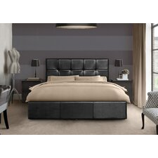 Checked Ottoman Storage Bed Frame