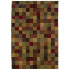 Allure Brown/Red Area Rug