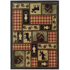 Hudson Red / Brown Novelty Rug