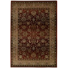 Generations Dark Red Floral Area Rug