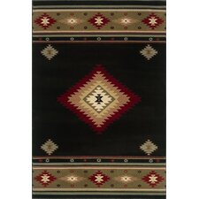 Hudson Black/Green/Red Rug