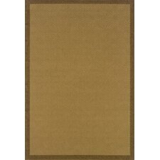 Lanai Beige/Brown Border Outdoor Rug