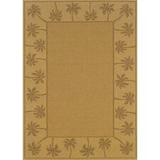 Lanai Beige/Tan Palm Trees Outdoor Rug
