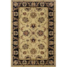 Windsor Ivory/Black Rug