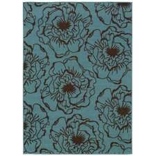 Caspian Blue/Brown Indoor/Outdoor Rug