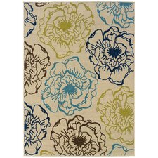 Caspian Floral Ivory Multi Indoor/Outdoor Rug