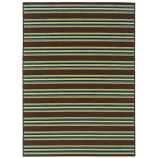 Caspian Brown/Green/Blue Indoor/Outdoor Rug