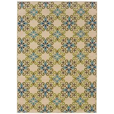 Caspian Ivory/Blue Indoor/Outdoor Rug