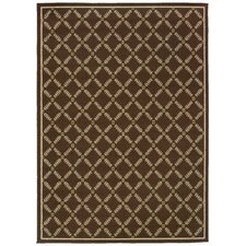 Caspian Brown/Ivory Indoor/Outdoor Rug