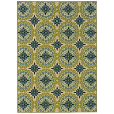 Caspian Green/Blue/Ivory Indoor/Outdoor Rug